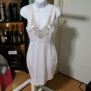 White Dress with gold embellishments